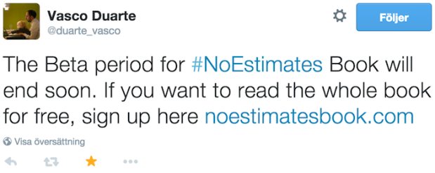 """""NoEstimates"